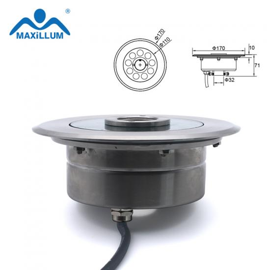 LED fountain light with stainless steel housing